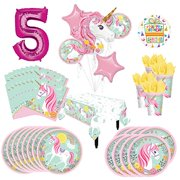 Magical Unicorn Party Supplies 8 Guests 5th Birthday Balloon Bouquet Decorations