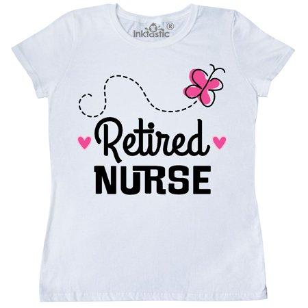 Inktastic Retired Nurse Nursing Retirement Gift Women's T-Shirt Career Picu Nicu