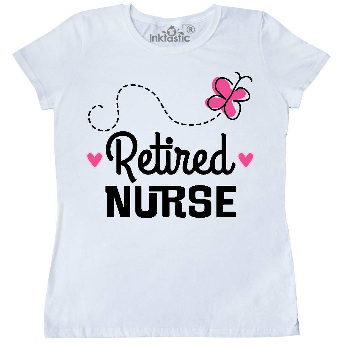 Inktastic Retired Nurse Nursing Retirement Gift Women's T-Shirt Career Picu Nicu