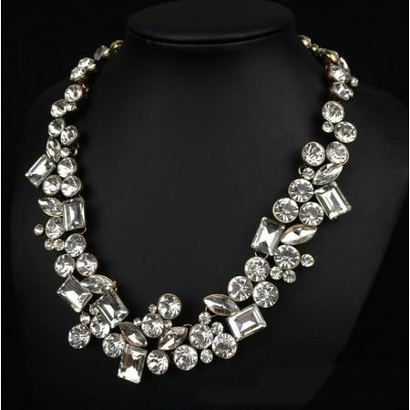 - Hello Gorgeous Diamond Crystal Statement Necklace