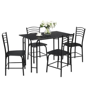 5-Piece Costway Dining Set Home Kitchen Table and 4 Chairs