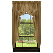 Deluxe Burlap Natural Tan Prairie Curtain
