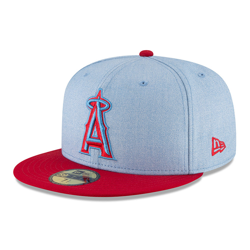Los Angeles Angels New Era 2018 Father's Day On Field 59FIFTY Fitted Hat - Light Blue