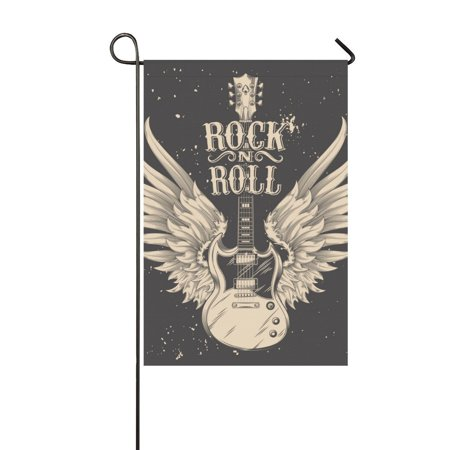 MYPOP An Electric Guitar With Wings Outdoor Decorative Flag Garden Flag 12x18 inches (Electric Guitar Flat)
