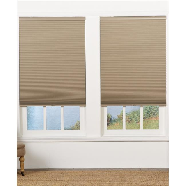 Safe Styles UBE62X64CR Cordless Blackout Cellular Shade, Cream - 62 x 64 in.