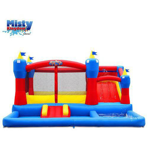 Blast Zone Misty Kingdom Inflatable Bounce and Water Slide Combo