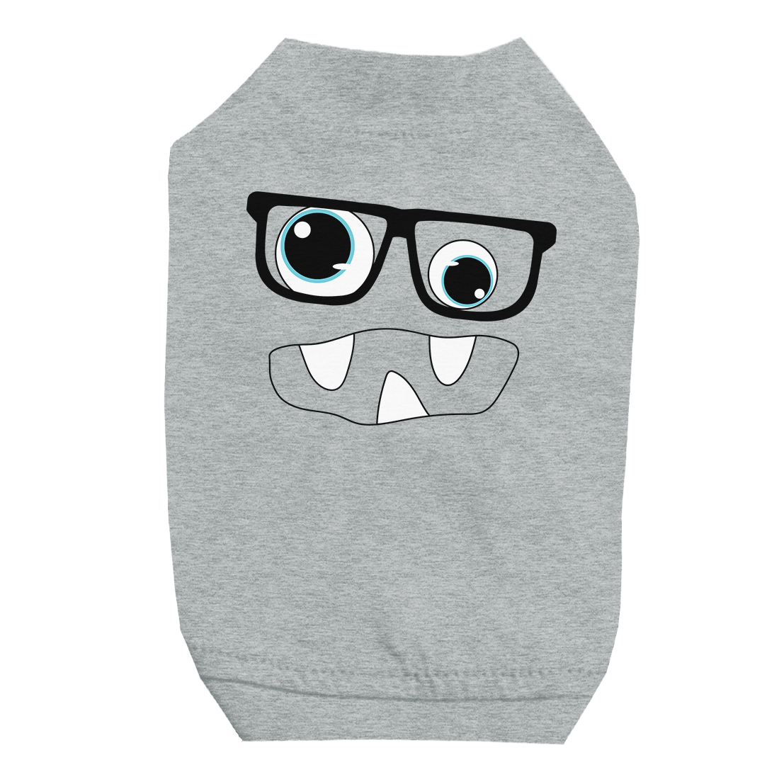 Monster With Glasses Grey Pet Shirt for Small Dogs