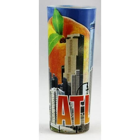 Atlanta Georgia Day Skyline Peach Shooter Shot Glass](Shooter Glasses)