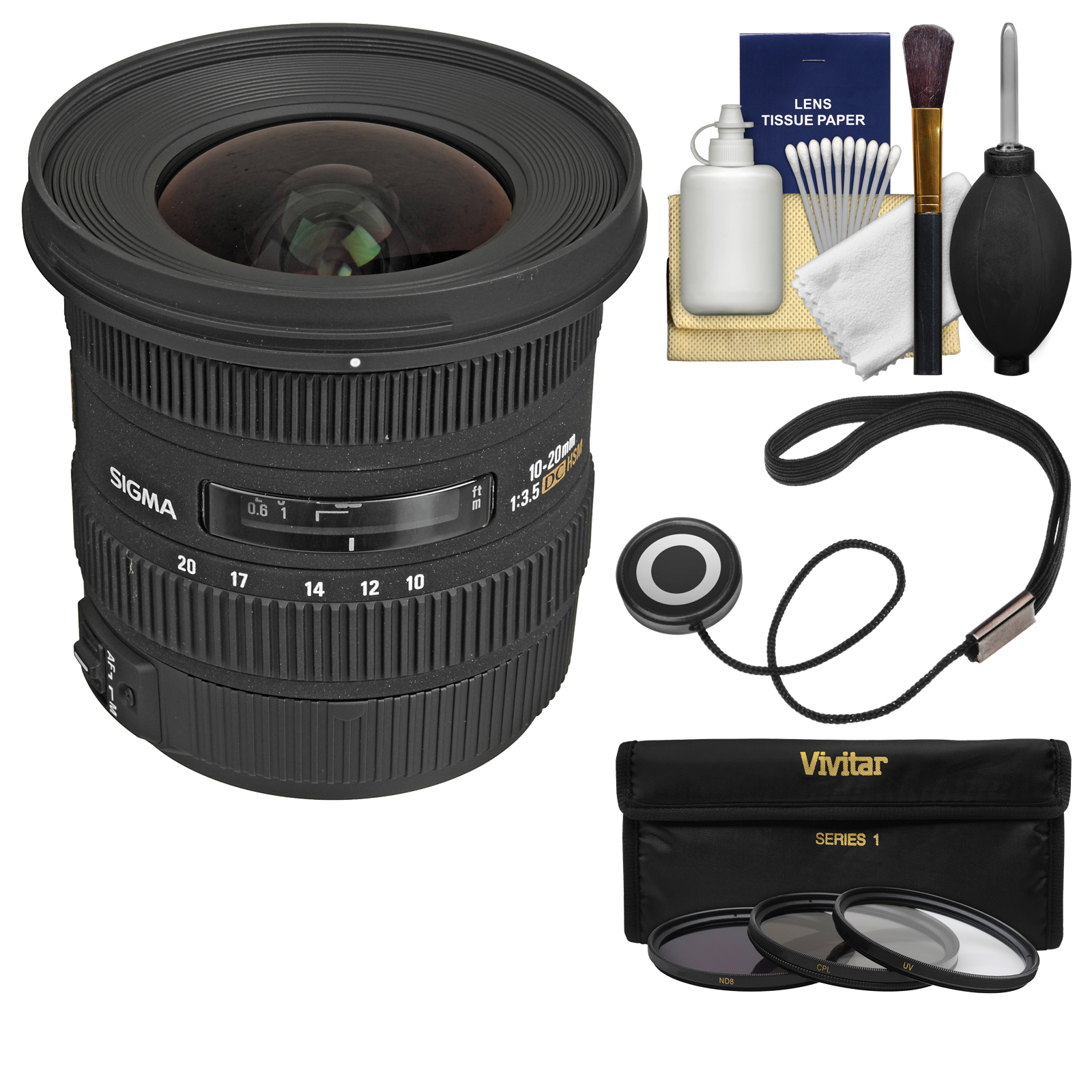 Sigma 10-20mm f/3.5 EX DC HSM Zoom Lens with 3 Filters Ki...