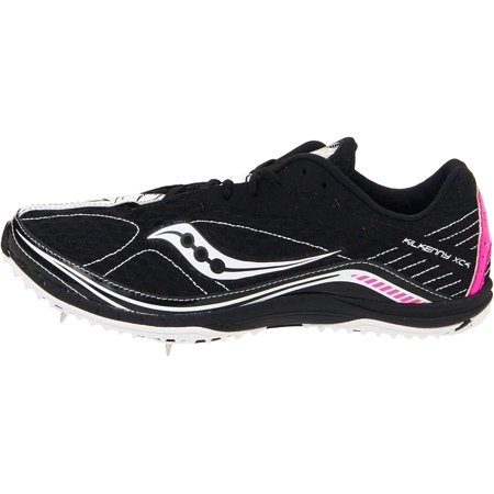 Saucony Kilkenny Flat - Saucony Womens Kilkenny Xc5 Low Top Lace Up Running, Black/White/Pink, Size 5.5