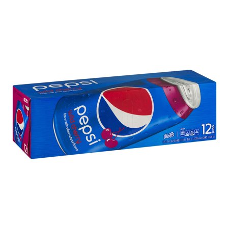 (3 Pack) Pepsi Wild Cherry Soda, 12 fl oz Cans, 12 Count