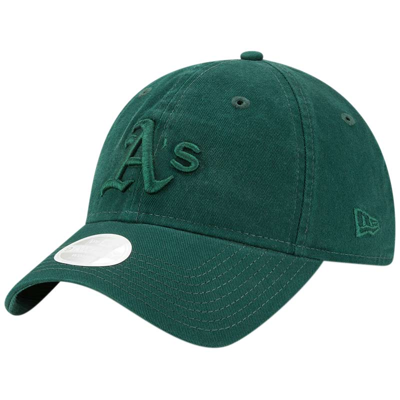 Oakland Athletics New Era Women's Core Classic Tonal Team 9TWENTY Adjustable Hat - Green - OSFA