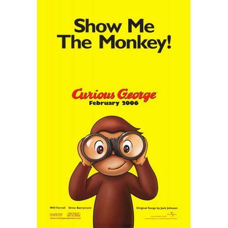 Curious George POSTER Movie Mini Promo - Eugene Halloween