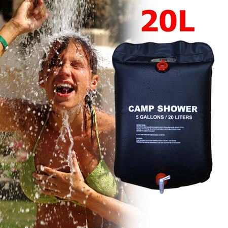 Portable Camp Shower Bag, 20/225 Liters Portable Solar Heated Shower Camping Water Bathing Bag Outdoor Travel Hiking,Outdoor Shower Bag -  HALLOLURE