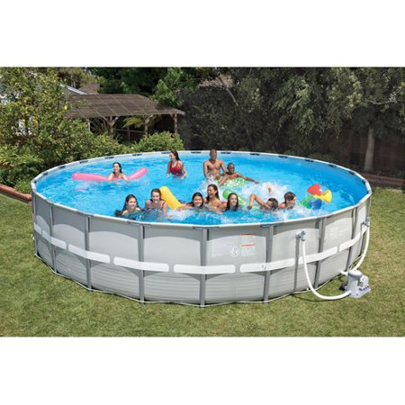Intex 26 39 x 52 ultra frame above ground swimming pool - Walmart above ground swimming pools ...