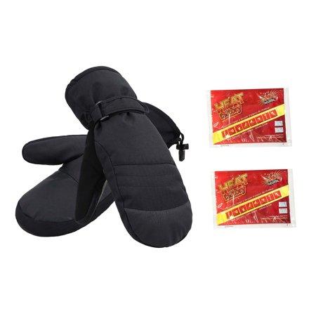Alpine Ski Package - Women's Alpine Ski Mittens with Handwarmer Pocket,Black,M/L
