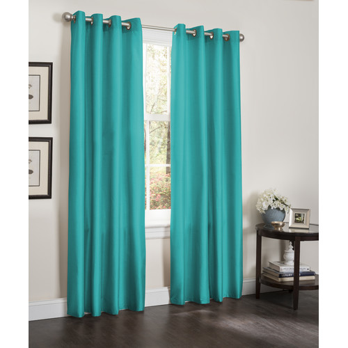 Erin Blackout Window Curtain Panel, 2 Pack, 55X90 [TURQUOISE]