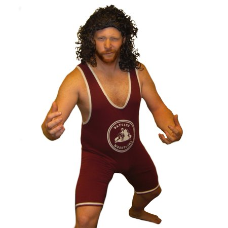 A.C. Slater Bayside Wrestling Singlet Saved By The Bell Wrestler Costume Tigers](Wrestling Halloween)
