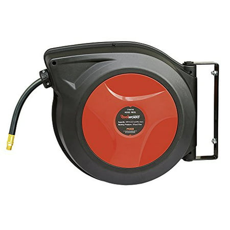 Air Max Ltd (ReelWorks 27807153A Plastic Retractable Air Compressor/Water Hose Reel with 3/8