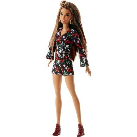 barbie fashionistas doll rosey romper walmart com