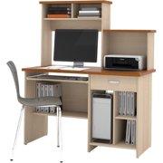 Active Home Office Computer Desk Copper Cherry & Maple
