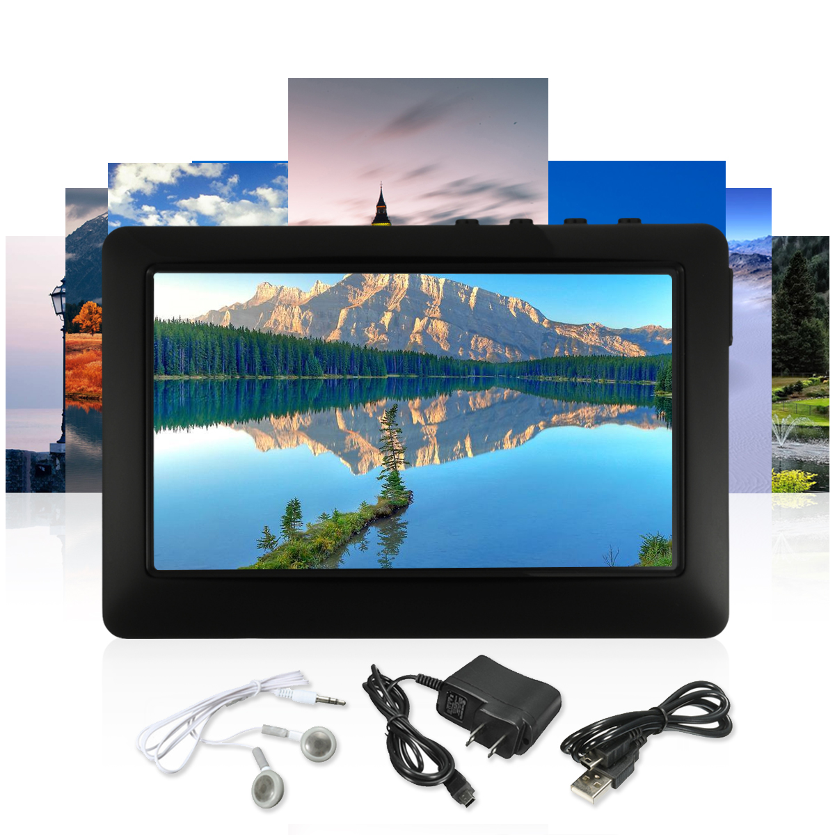 4.3' Touch Screen TF Card Gifts Support Max 32GB MP5 Video Music Media Player Radio Recorder with TV OUT