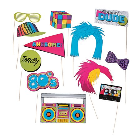 Awesome 80S Photo Stick Props - Apparel Accessories - 12 Pieces