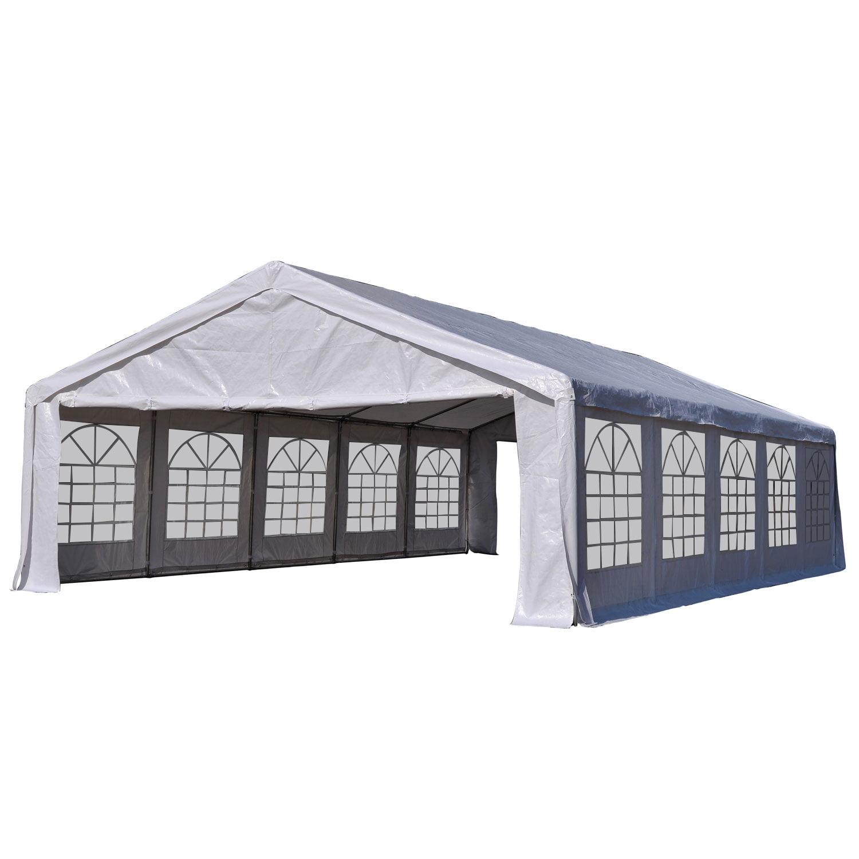 Outsunny Carport 32' x 20' Heavy Duty Outdoor Party Tent / Carport - White
