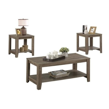 (Pemberly Row 3 Piece Coffee Table Set with Bottom Shelves)