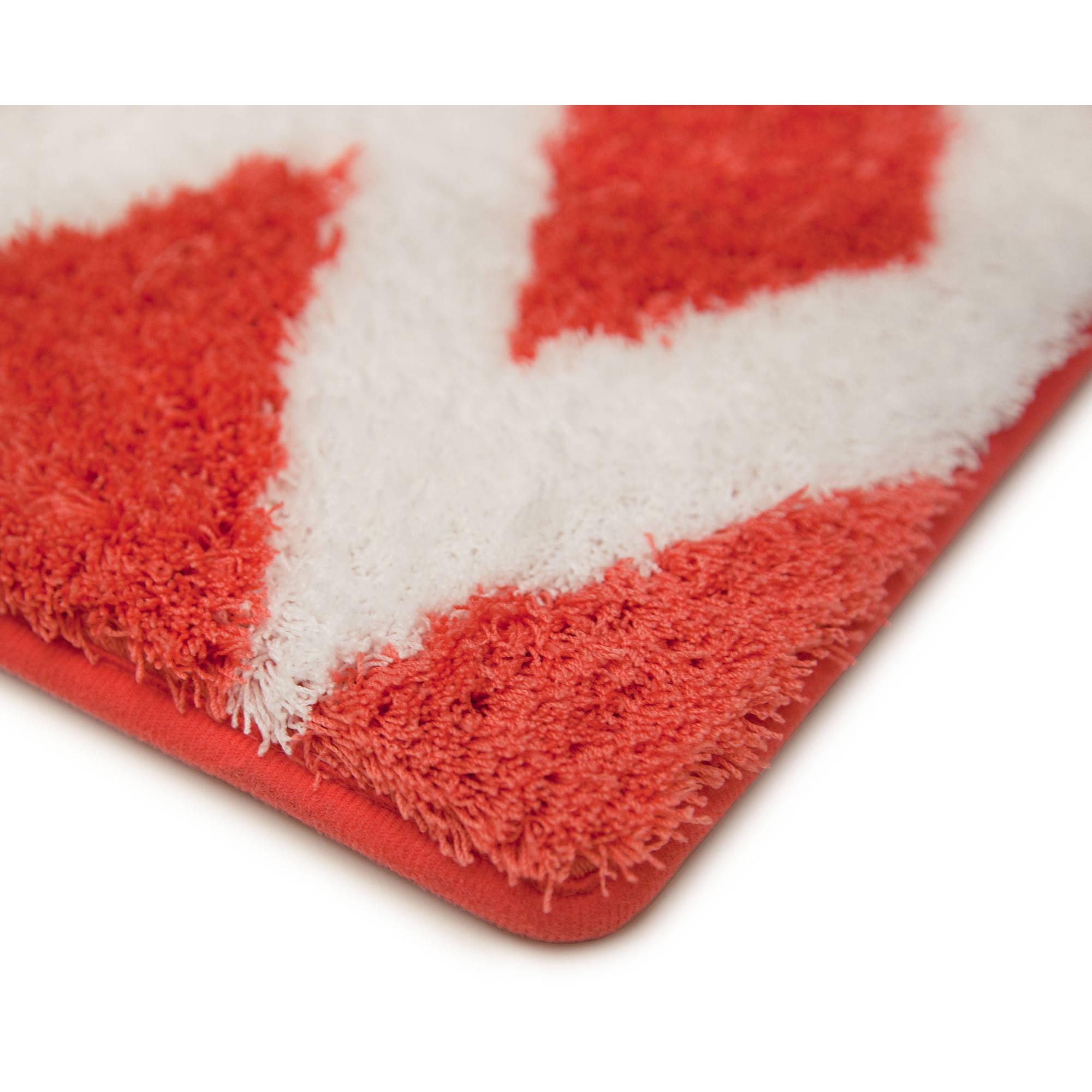 Coral Color Bathroom Rugs.Mainstays True Color Coral Fire Memory Foam Bath Rug 1 Each