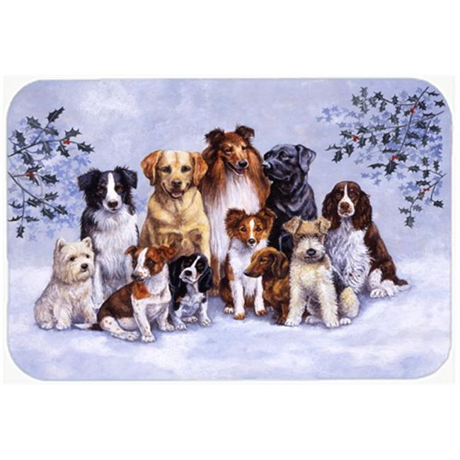 Carolines Treasures BDBA316AMP Winter Dogs Mouse Pad, Hot Pad or Trivet - image 1 of 1