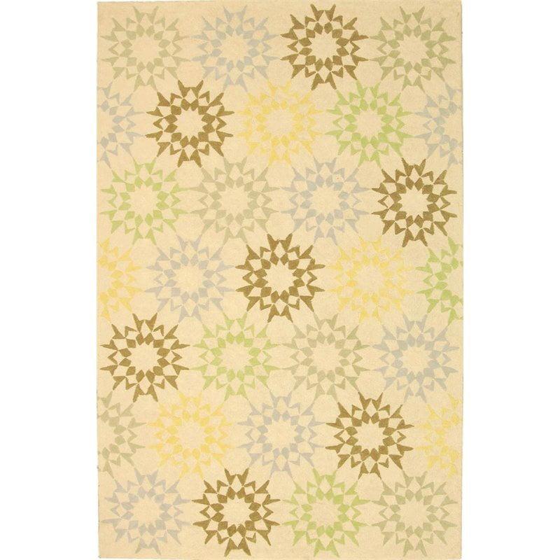 """Safavieh Martha Stewart 3'9"""" X 5'9"""" Handmade Cotton Pile Rug in Creme - image 1 de 10"""