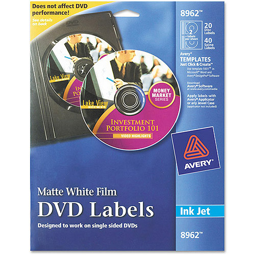 Avery 8962 DVD Label