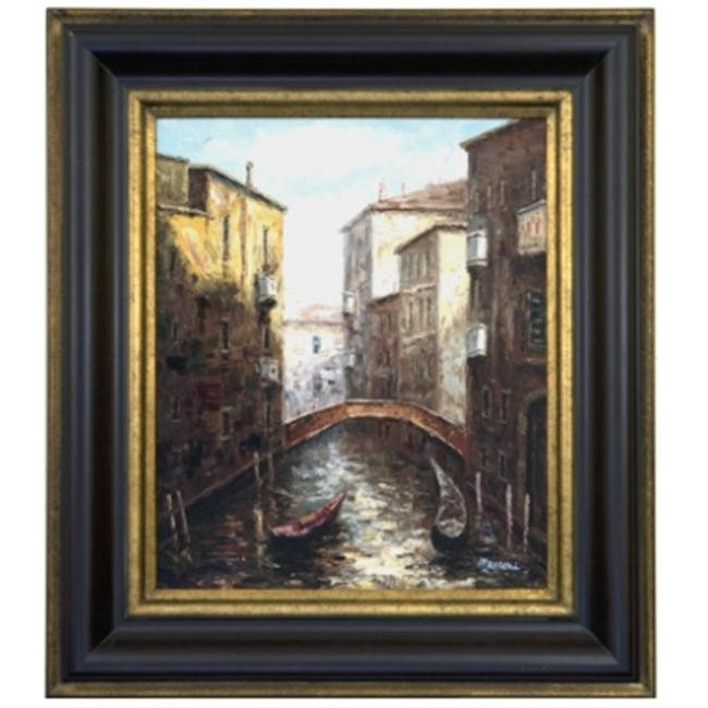 Artmasters Collection PA89397-83A Venetian Canal II Framed Oil Painting