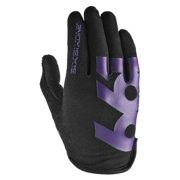 SixSixOne Comp Full Finger Glove: Black/Purple XL