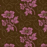 Quilting Country Day Floral Motif, Brown