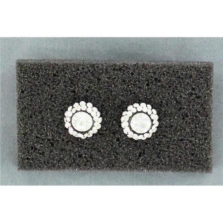 Blazin Roxx 29811 Rhinestone Ball Concho Earrings, Clear