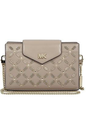 47fc865e5e Free shipping. Product Image Michael Kors Medium Floral Leather Crossbody  Clutch- Truffle