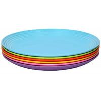 Melange Solids 6 Piece Melamine Salad Plate Set (Set of 6)