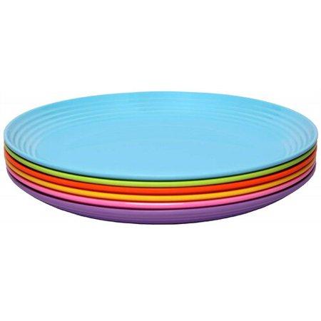 Melange Solids 6 Piece Melamine Salad Plate Set (Set of 6) ()