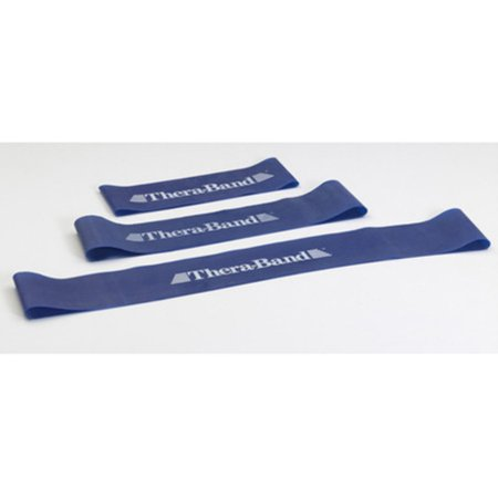 Blue Heavy Resistance (TheraBand Professional Latex Resistance Band Loop, 12 Inch, Blue, Extra Heavy, Advanced Level 1)