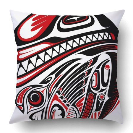 Animals With Tattoos (BPBOP Black Haida Style Tattoo Design Created with Animal Images Raster Check My Portfolio for Red Pillowcase 18x18)
