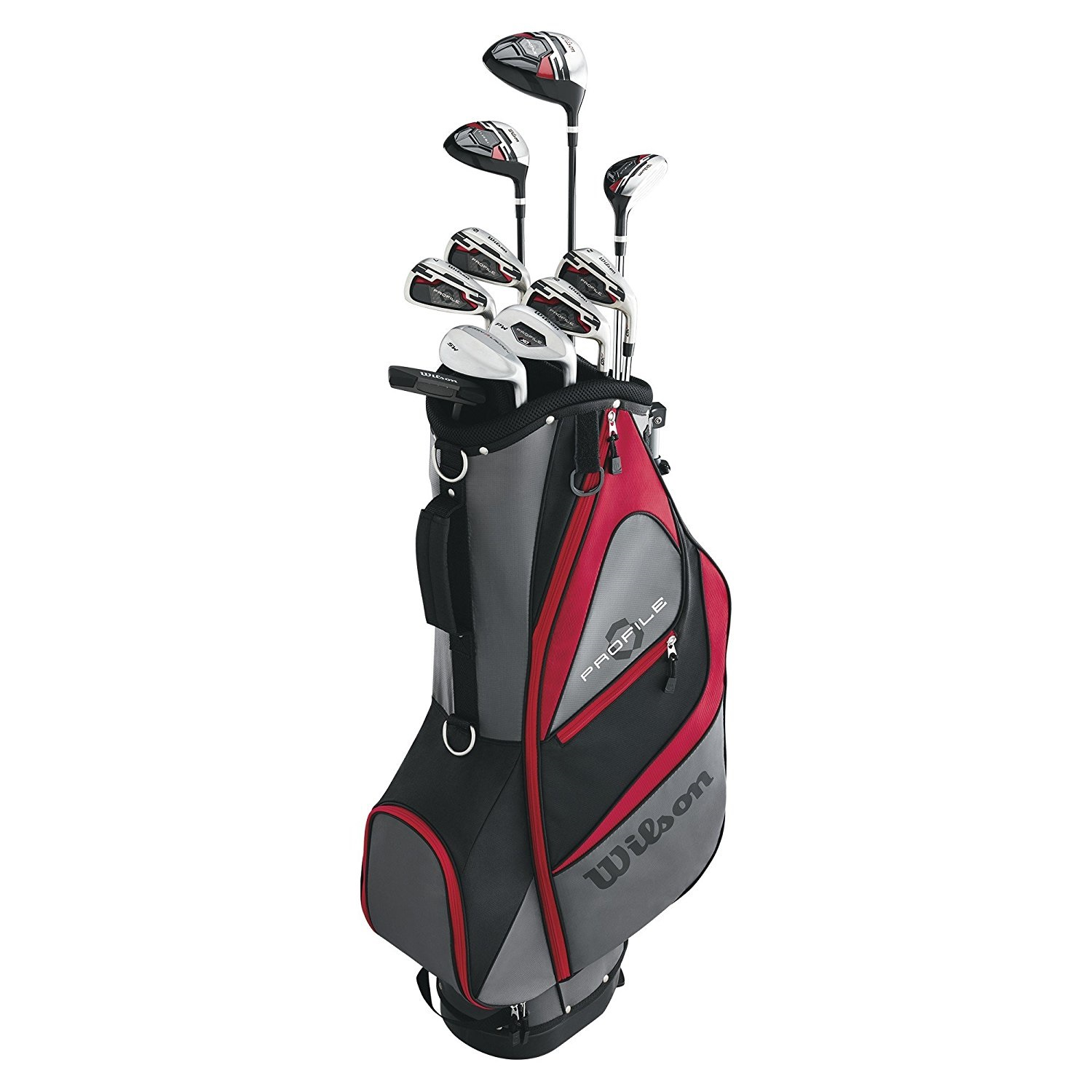 Wilson Profile XD Men's RH Flex Graphite Steel Golf Club Stand Bag Package Set by Wilson - Golf