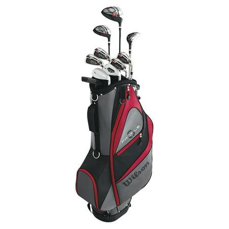 Wilson Profile XD Mens RH Flex Graphite Steel Golf Club Stand Bag Package Set