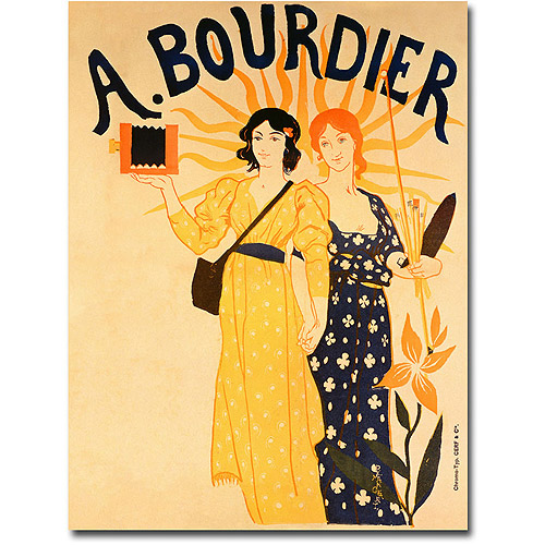 "Trademark Art ""Bourdier Cameras"" Canvas Wall Art by Paul-Emile Mangeant"