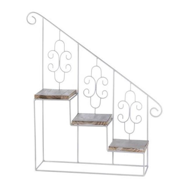 Stepped Triple Plant Stand, White