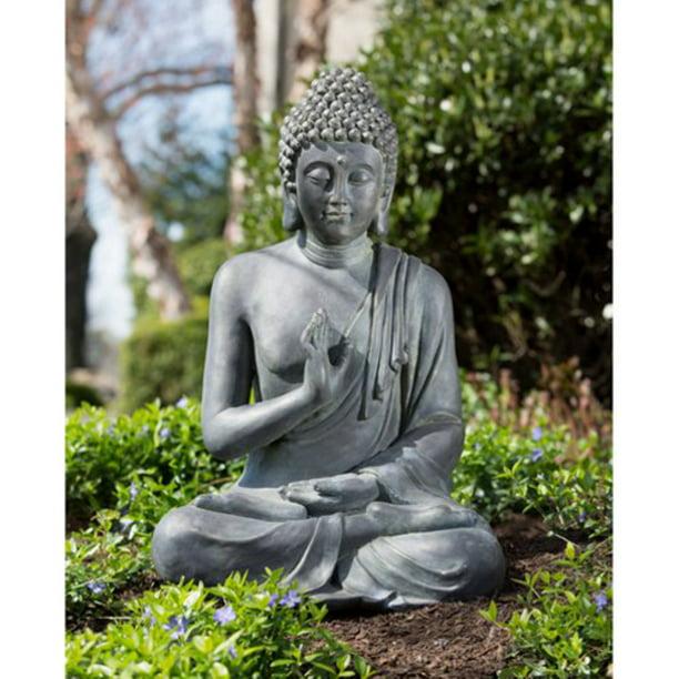Alfresco Home Thai Buddha Garden Statue Walmart Com Walmart Com