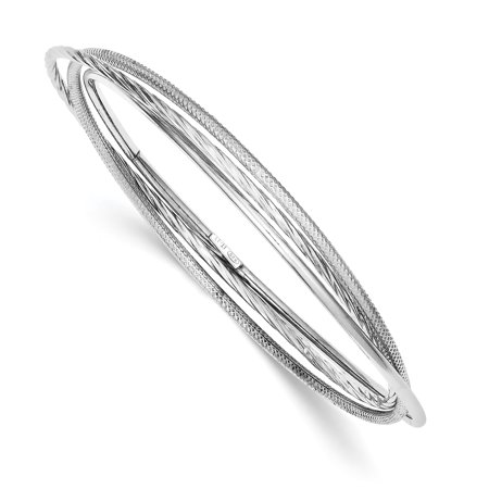 Intertwined Cuff (925 Sterling Silver Twisted Textured Intertwined Bangle Bracelet Cuff Expandable Stackable Slip On For Women )