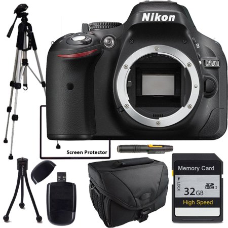 Nikon D5200 Camera with Full Size tripod, Camera Case, 32GB Sd Memory Card and