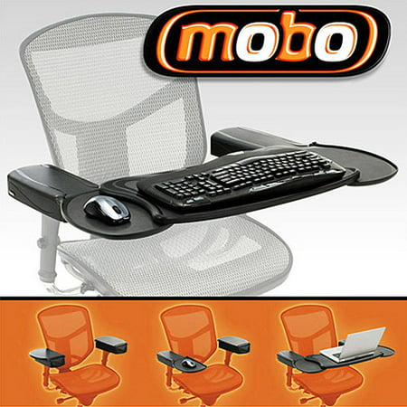 Locking Keyboard Tray - Ergoguys Mobo Chair Mount Keyboard and Mouse Tray System
